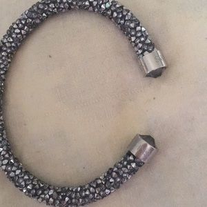 Swarovski cuff sparkle silver with black tones